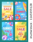 summer sale best price set of... | Shutterstock .eps vector #1165355128