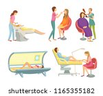spa salon hair wash and... | Shutterstock .eps vector #1165355182