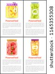 preserved food  fruits and... | Shutterstock .eps vector #1165355308