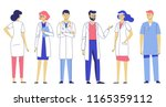 medicine team concept with... | Shutterstock .eps vector #1165359112