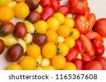 tomato biodiversity background | Shutterstock . vector #1165367608