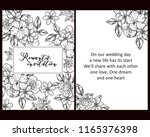 invitation greeting card with... | Shutterstock . vector #1165376398