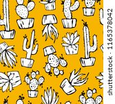 cartoon seamless pattern with... | Shutterstock .eps vector #1165378042