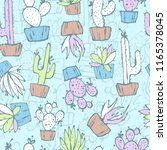 cartoon seamless pattern with... | Shutterstock .eps vector #1165378045