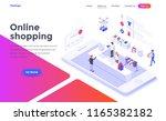 modern flat design isometric... | Shutterstock .eps vector #1165382182