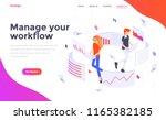 modern flat design isometric... | Shutterstock .eps vector #1165382185