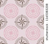 seamless pattern with compass... | Shutterstock .eps vector #1165383208