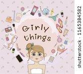 girl and women's things  | Shutterstock .eps vector #1165384582