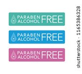 paraben and alcohol free icon... | Shutterstock .eps vector #1165386328