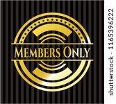 members only gold emblem | Shutterstock .eps vector #1165396222