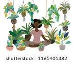 urban interior decorative... | Shutterstock .eps vector #1165401382