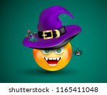 cute smiling face emoticon... | Shutterstock .eps vector #1165411048