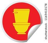 toilet circular peeling sticker ... | Shutterstock .eps vector #1165413178