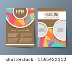 illustration of brochure flyer... | Shutterstock .eps vector #1165422112