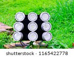 close up of led spotlights in... | Shutterstock . vector #1165422778
