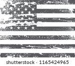 us flag.vector grunge usa flag. | Shutterstock .eps vector #1165424965