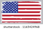 us flag.vector grunge usa flag. | Shutterstock .eps vector #1165424968