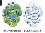 magical season landscape   an... | Shutterstock .eps vector #1165426435