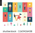 bright people portraits pattern ... | Shutterstock .eps vector #1165426438