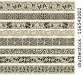 vintage border set for design | Shutterstock .eps vector #116543002