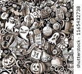cartoon cute doodles hand drawn ... | Shutterstock .eps vector #1165432738