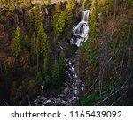 Water Flowing Over Undine Falls ...