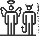 Devil And Angel  Bold Line...