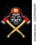 vector emblem firefighter's...   Shutterstock .eps vector #1165444645