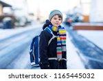 little school kid boy of...   Shutterstock . vector #1165445032