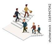 business men climbing and... | Shutterstock .eps vector #1165447042