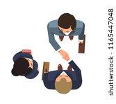 top view of business partners... | Shutterstock .eps vector #1165447048