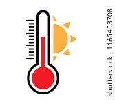 thermometer icon  heat...   Shutterstock .eps vector #1165453708