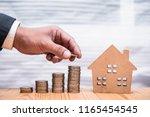 hand of investor or businessman ...   Shutterstock . vector #1165454545