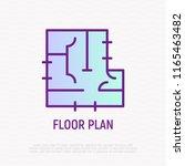 floor plan thin line icon....   Shutterstock .eps vector #1165463482