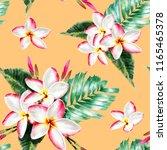 seamless pattern botanical whit ... | Shutterstock . vector #1165465378