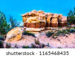 sandstone red rock canyon scene.... | Shutterstock . vector #1165468435