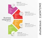 infographic template with... | Shutterstock .eps vector #1165471945