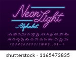 glowing violet and blue neon... | Shutterstock .eps vector #1165473835