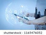 digital marketing media ... | Shutterstock . vector #1165476052
