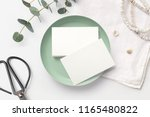 stack of blank business cards... | Shutterstock . vector #1165480822