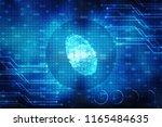 fingerprint scanning... | Shutterstock . vector #1165484635