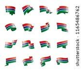 gambia flag  vector... | Shutterstock .eps vector #1165486762