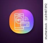 nfc technology app icon. near...