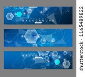 scientific set of modern vector ... | Shutterstock .eps vector #1165489822