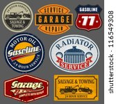 vintage automotive labels and... | Shutterstock .eps vector #116549308