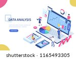 data analysis concept with... | Shutterstock . vector #1165493305