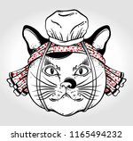 traditional japanese cat in... | Shutterstock .eps vector #1165494232
