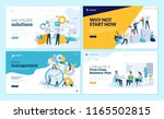 set of web page design... | Shutterstock .eps vector #1165502815