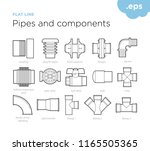 pipes and components   set icon ... | Shutterstock .eps vector #1165505365