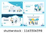 set of web page design... | Shutterstock .eps vector #1165506598